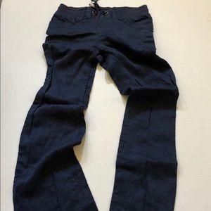 Nikibiki 100% linen navy blue pants